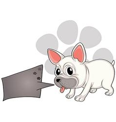 A dog with a rectangular callout vector image vector image