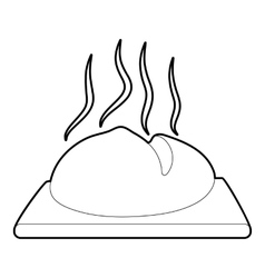 Fresh loaf icon outline style vector