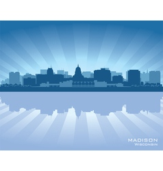 Madison Wisconsin skyline city silhouette vector image vector image