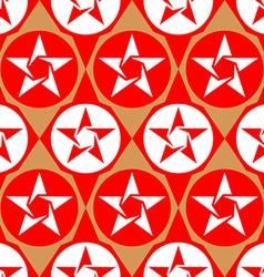 Modern seamless diamond pattern with stars vector image