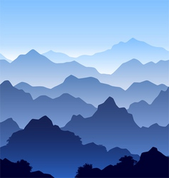 seamless mountain landscape vector image vector image