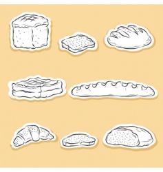 set of bread v vector image vector image