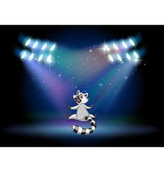 A lemur in the middle of the stage vector image