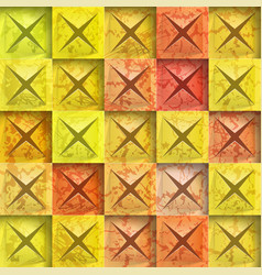 Abstract background stone squares vector