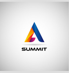 Abstract colorful geometric triangle logo sign vector