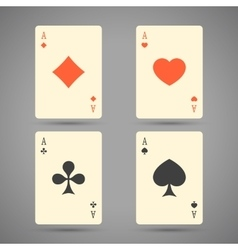 Aces playing cards set ace playing vector