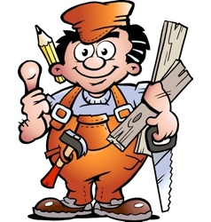 an Carpenter Handyman vector image