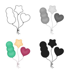Baloons icon in cartoon style isolated on white vector