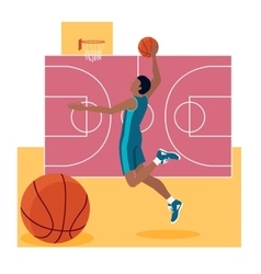 Basketball Sport Team Concept Icon Flat Design vector