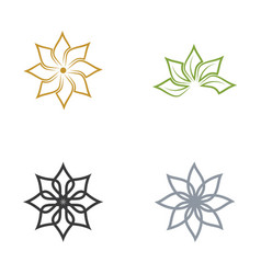 beauty flower icon vector image