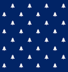 Bell on blue background seamless pattern vector