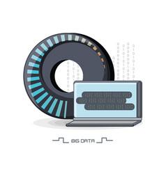 big data design vector image