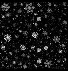 Black christmas snowy background vector