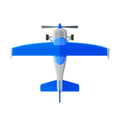 blue flying aircraft airplane view from above vector image