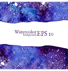 Blue space background Watercolor vector
