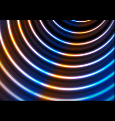 Blue ultraviolet neon glowing circles abstract vector
