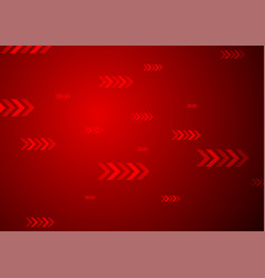 bright red tech background with arrows vector image