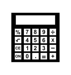 Calculator device isolated icon vector