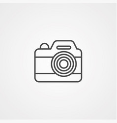 camera flat icon sign symbol vector image