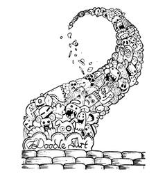Cartoon hand-drawn doodle vector