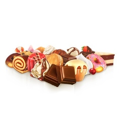 Chocolate confectionery vector image