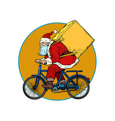 Christmas delivery gifts and purchases santa vector
