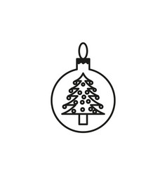 christmas tree toy icon vector image