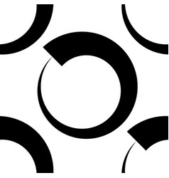 Circles abstract repeatable geometric pattern vector