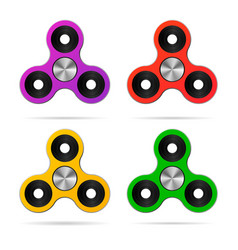 Colored finger hand spinner set vector