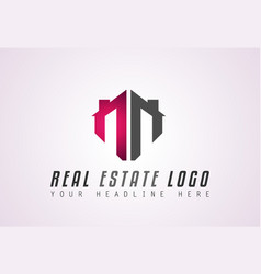 creative real estate logo design for brand vector image vector image