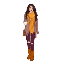fashion autumn style poster vector image