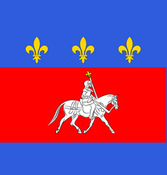 Flag of cognac in nouvelle-aquitaine is the vector