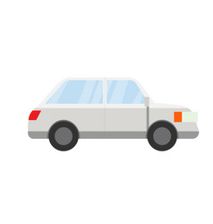 flat grey car design vector image