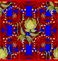 Flowers of the valley on red blue and yellow vector