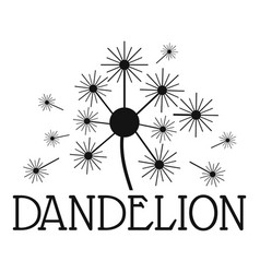Fluffy dandelion logo icon simple style vector