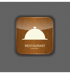Food and drink wood application icons vector image