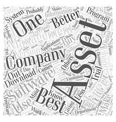 Free Asset Management Software Word Cloud Concept vector
