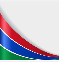Gambian flag background vector
