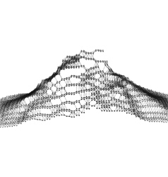 Geometric Mountain Landscape Terrain Background vector image