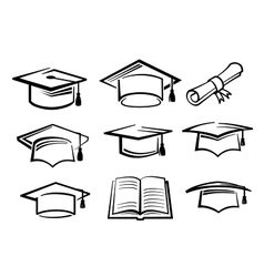 graduating hat vector image