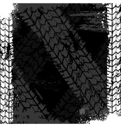 Grunge tire track backgound vector image