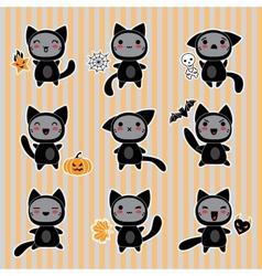 Halloween Cartoon Cat Character vector image