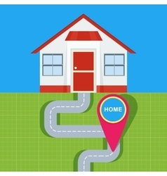 home map pointer vector image