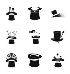 Hood icons set simple style vector