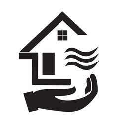 House icon with black and white and a picture of vector