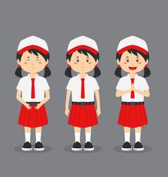 Indonesian elementary school character vector