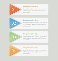 Infographic options design vector