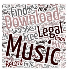 Legal Music Downloads text background wordcloud vector