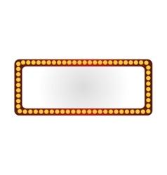 lightbulb frame icon vector image