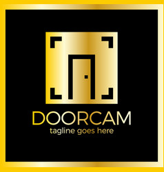line door photo logo vector image